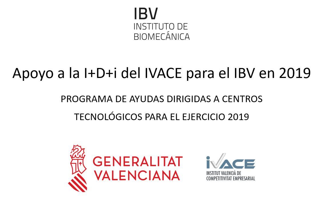 IVACE financiacion 2019 RECORTE