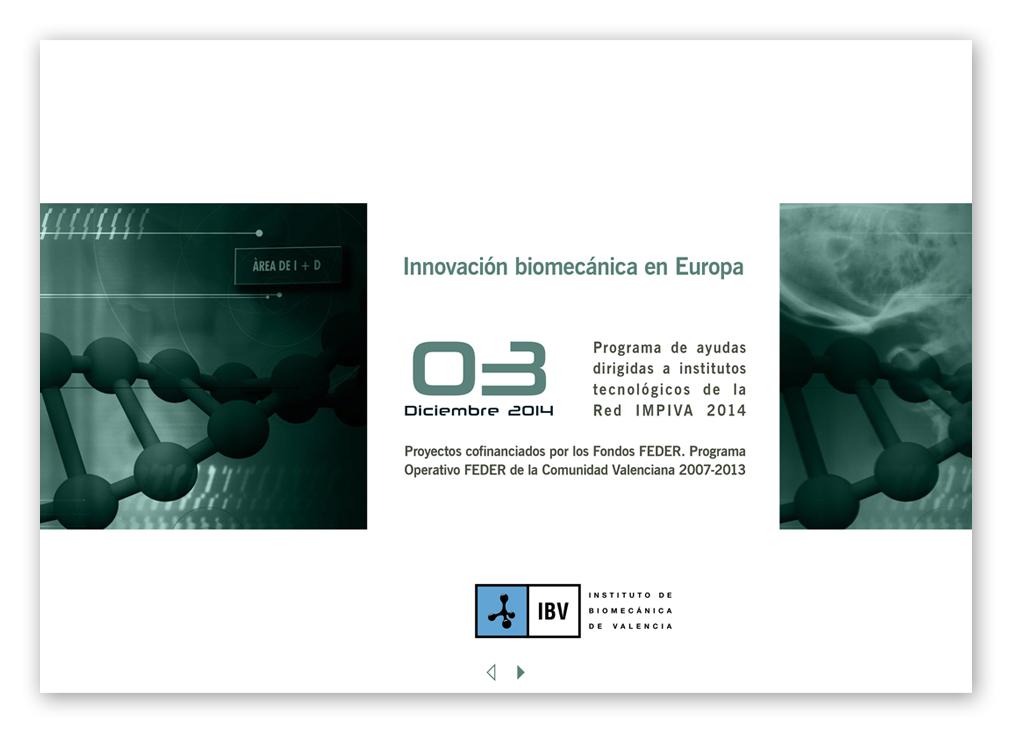 INNOVACION BIOMECANICA IVACE FEDER 2014 portada cs